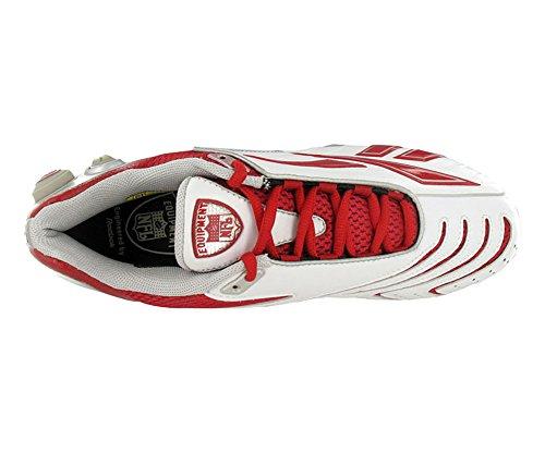 Reebok Pro Pompe Brûleur Vitesse Basse Sd2 Chaussures De Football Pour Hommes Blanc / Rouge
