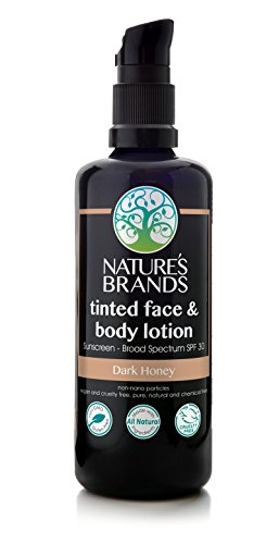 (Herbal Choice Mari Natural SPF 30 Tinted Face & Body Lotion Dark Honey; 3.4floz)