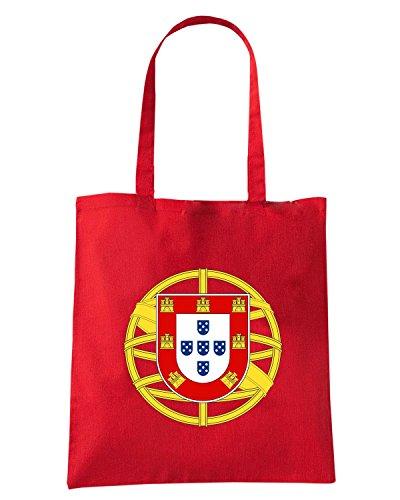 T-Shirtshock - Bolsa para la compra TM0187 flag bandeira Portugal flag Blanco