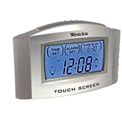 Westclox Touch Screen LCD Digital Alarm Clock with Temperature Display & Snooze