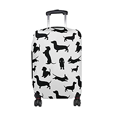 GIOVANIOR Snowy Owl Luggage Cover Suitcase Protector Carry On Covers