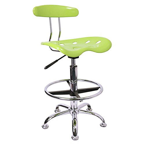 FlashFurniture Vibrant Drafting Stool with Tractor Seat