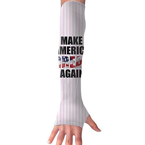SESY Make America Great Again Flag Gloves Anti-uv Sun Protection Long Fingerless Arm Cooling Sleeve For Men And Women