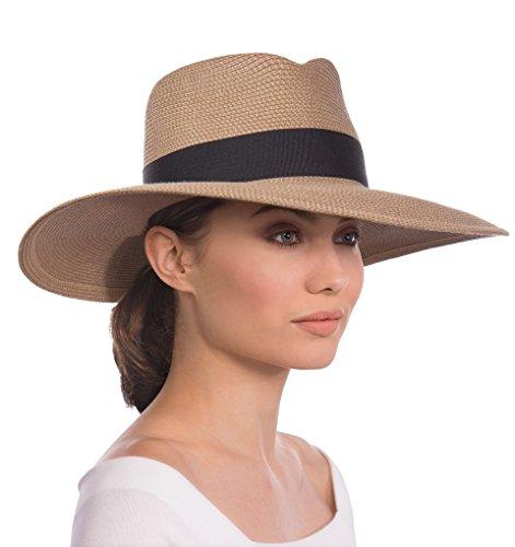 Eric Javits Luxury Fashion Designer Women's Headwear Hat - Daphne - Natural/Black by Eric Javits