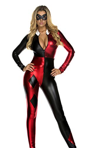 Forplay Jazzy Jester Sexy Comic Book Character Costume Red ()