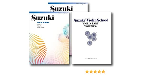 Suzuki Violin School, Violin Part - 3 Book Set - Includes Volume 4 ...