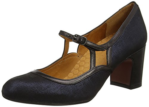 Chie Mihara Women's FAW Mary Janes Blue (Ginza Navy-tailu Negro) buy cheap best real sale online clearance sale online Y0DgeUSo