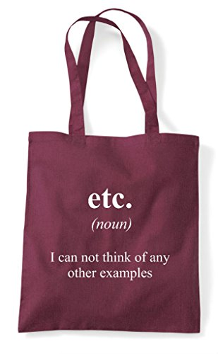 Not Tote Shopper Funny Alternative Definition In The Dictionary Etc Bag Burgundy Wq0t4zwqnx