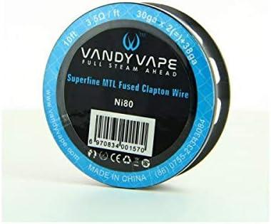 Superfine MTL Fused Clapton Wire NI 80 30gaX2 38ga Vandy Vape