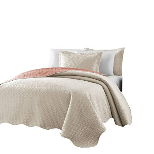Chezmoi Collection Mesa 3-piece Oversized Reversible Bedspre