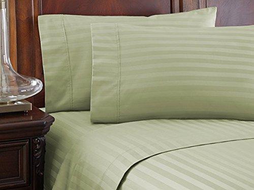 LuxuriousSheets Ultra Soft Microfiber - Sleeper Sofa Sheet Set Stripe, Sage, Full Size (54