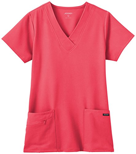 Hibiscus Collection (Classic Fit Collection By Jockey Women's Tri Blend Solid Scrub Top XX-Small Hibiscus)