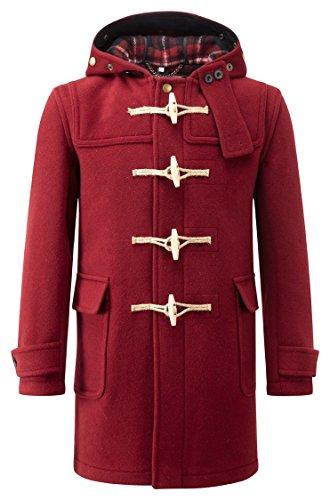 Original Montgomery Soho Elegance Duffle Coat Homme Rouge Bordeaux
