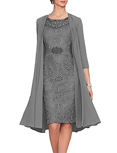 Beautydress Spring Tea Length Mother Of The Bride Dresses Lace Chiffon Jacket
