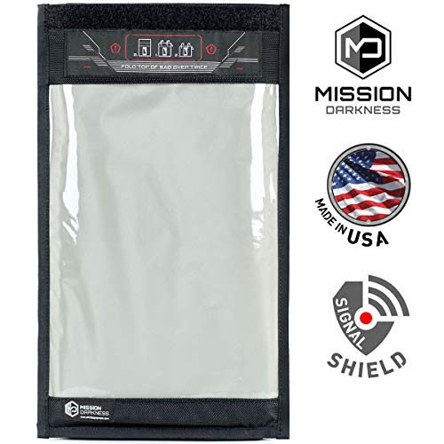 Mission Darkness Window Faraday Bag for Tablets - Device Shielding for Law Enforcement, Military, Executive Privacy, EMP Protection, Travel & Data Security, Anti-Hacking & Anti-Tracking Assurance ()