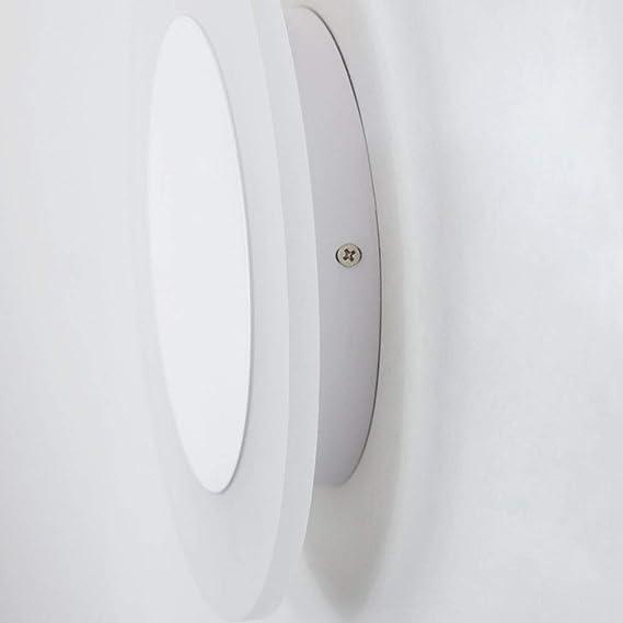 Luces De Pared Redondas LED Blanco Para Decorar Accesorios De Iluminación De La Pared De La Sala De Estar Del Dormitorio Interior [Clase De Energía A +++]: ...