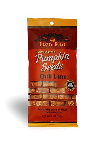 Harvest Roast: Slow Roasted Chili Lime Pumpkin Seeds 2 Oz (12 Pack)