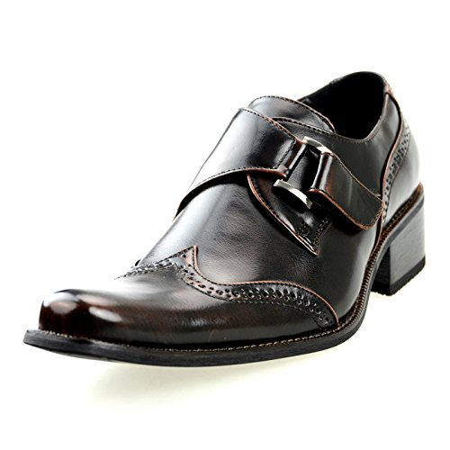 MM / ONE Mens Monkstrap Schuhe Oxford Schuhe Kleid Schuhe Big Size Kingsize Casual Dark Brown Black Chmpt170-1 dunkelbraun