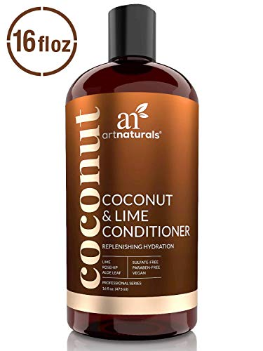 ArtNaturals Coconut and Lime Daily Conditioner - (16 Fl Oz/473ml) - Replenishing Hydration - Deep Moisturizing For All Hair Types - Sulfate-Free and Vegan - Coconut, Lime, Aloe Vera and Rosehip