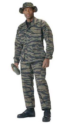 Camouflage Military Fatigues Tiger Stripe BDU Shirt