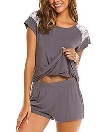 Avidlove Womens Pjs Set Short Sleeve Pajama Set for Women