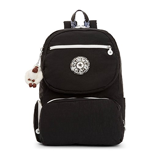 Kipling Women's Dawson Large Laptop Backpack One Size Black (Big Zipper Crinkle Nylon)