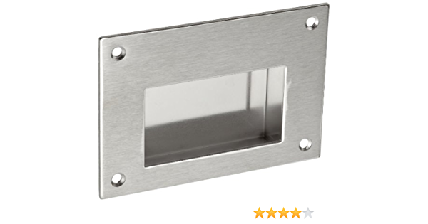 304 Stainless Steel Satin Offset Pull Handle Threaded Holes