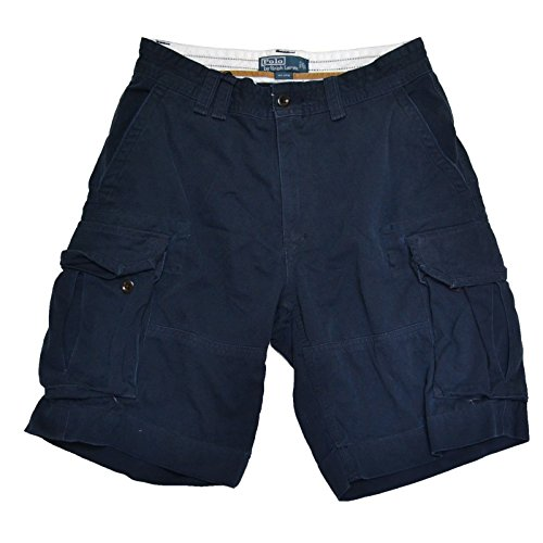 (Polo Ralph Lauren Men's Gellar Fatigue Cargo Shorts (31, Aviator Navy))