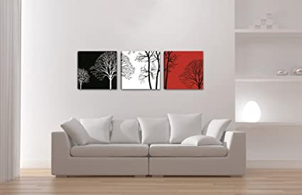 Visario Leinwandbilder 4201 Bilder auf Leinwand Bild 150 x 50 cm Rosen drei Teile