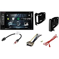 Kenwood DDX24BT 6.2-Inch Double DIN Bluetooth In-Dash Car Stereo Receiver With DODGE 2009 - 2012 RAM 1500 CAR CD STEREO RECEIVER DASH INSTALL MOUNTING KIT WIRE HARNESS AND RADIO ANTENNA ADAPTER