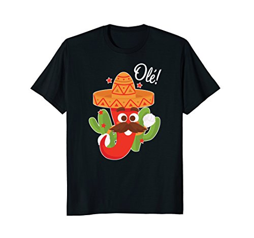 Dancing Chili Pepper Ole For Cinco de Mayo T Shirt Dancing Chili Pepper
