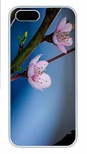 iPhone 5S Case - Customized Unique Design Lifes A Peach New Fashion PC White Hard