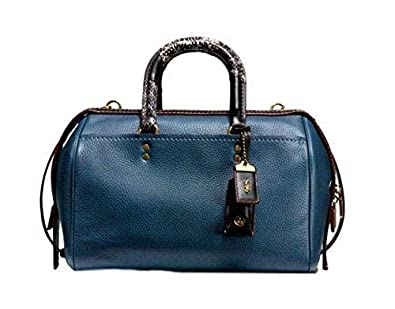 0fc78c8d6319 Coach Patchwork Snake Handle Rogue Satchel 58690 in Dark Denim ...
