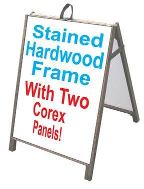 """Neoplex 25"""" x 36"""" Sidewalk A-frame Sandwich Board Sign w/..."""