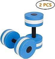 BigBoss Sports Aquatic Exercise Dumbbells Aqua Fitness Barbells Exercise Hand Bars - Set of 2 - for Water Aero