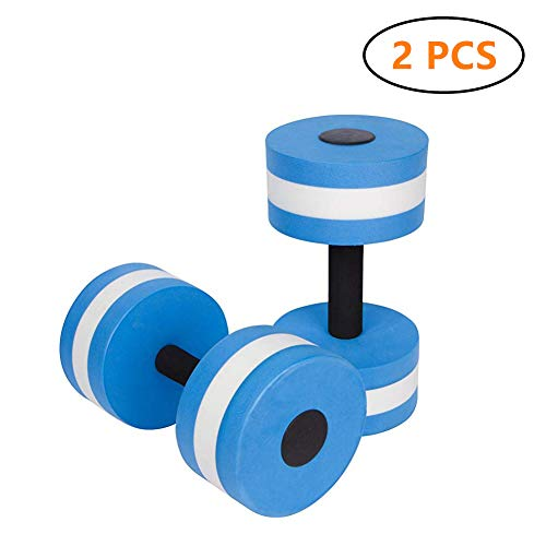 BigBoss Sports Aquatic Exercise Dumbbells Aqua Fitness Barbells Exercise Hand Bars - Set of 2 - for Water Aerobics (Fitness Exercise Set Aqua)
