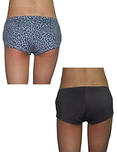 (Pack of 2) XOXO Womens Soft Boy Shorts Underwear Panties 1X Multicolor