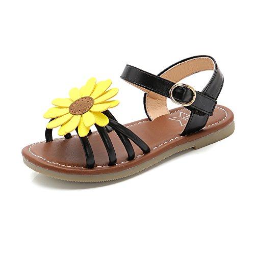 Girl's Flower Flat Sandals Cute Summer Open Toe