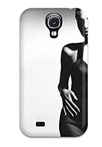 JessicaBMcrae Galaxy S4 Hybrid Case Cover Silicon Bumper Angelina Jolie Black And White