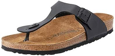 Birkenstock Gizeh Unisex Sandals, Black, 39 EU