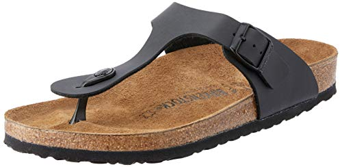Birkenstock womens Gizeh in Black from Birko-Flor Thong 35.0 EU W