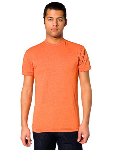 Donna Maniche Maglietta American A Orange Apparel Corte Heather wqOwX4t5