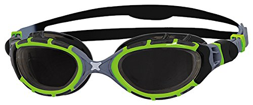 Zoggs Predator Flex 2.0 Reactor Swimming Goggles Swimming Goggles No Leaking Anti Fog UV Protection Triathlon (Predator Goggles)