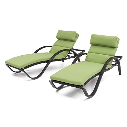 (RST Brands Deco Chaise Lounges with Cushions, Ginkgo)