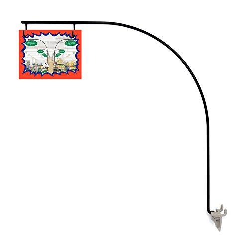 10 Black Gondola Aisle Sign Holders / Aisle Violator Sign (Slatwall Gondola)