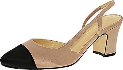 Ivanka Trump Women's Liah 4 Textile Ankle-High Satin Pump