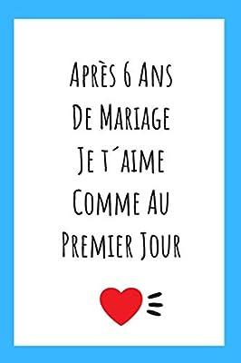 Journal Pour Anniversaire De Mariage Idee Cadeau 6 Ans De Mariage Noces De Chypre Amazon Fr Publishing Arienne Pinneau Livres