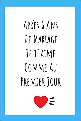 Journal Pour Anniversaire De Mariage Idée Cadeau 6 Ans