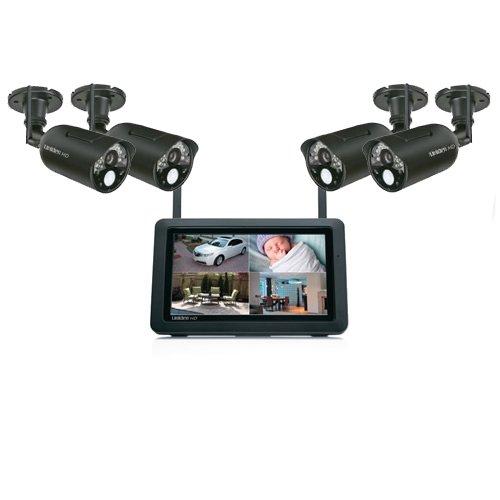 Uniden UDR744HD + UDRC34HD(2) 4-Cameras Digital Wireless Video Surveillance System