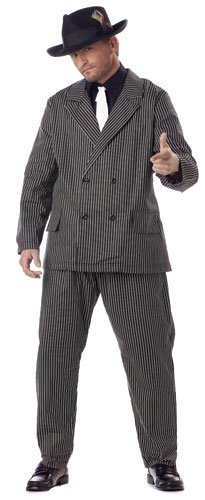 California Costumes Men's Plus Size-Gangster, Black/White, PLUS (48-52) (Plus Size Mens Halloween Costumes)